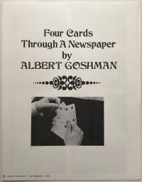 Four Cards Through A Newspaper