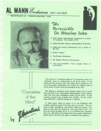 The Incredible Dr. Stanley Jaks