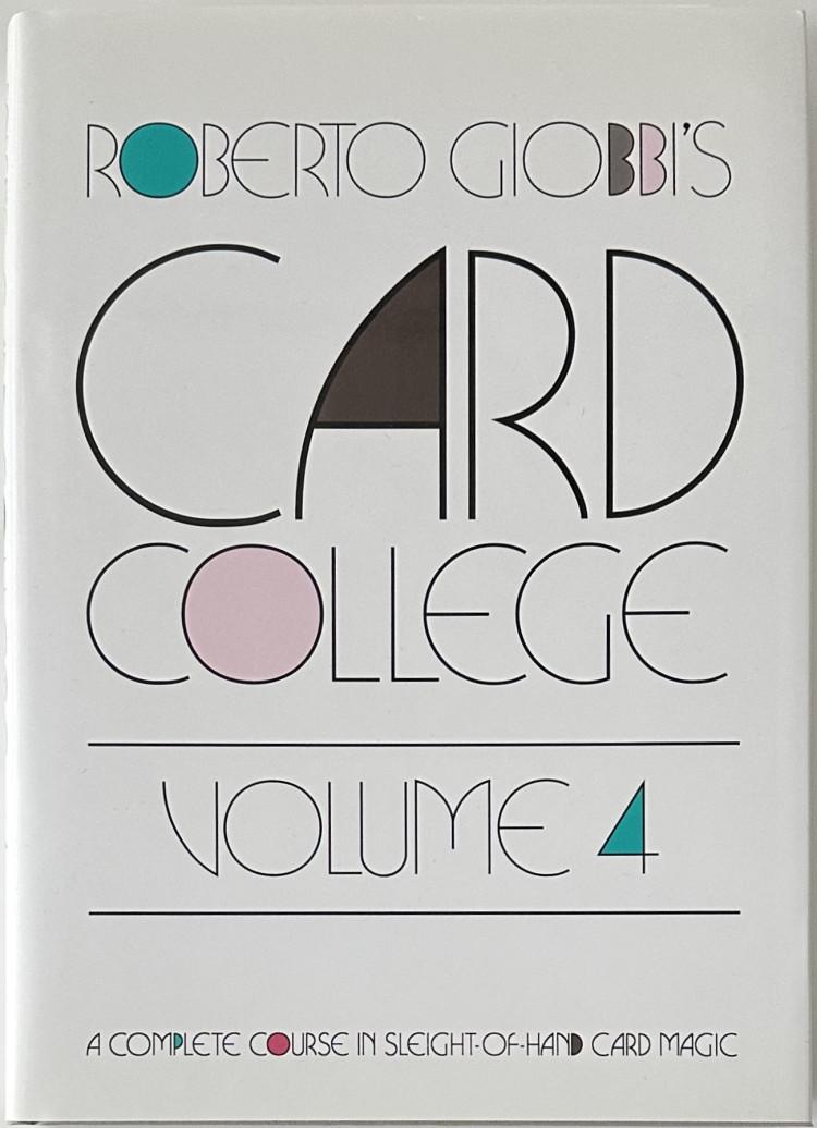 Card College Volume 3 by Roberto Giobbi book playing cards deck magic tricks