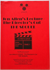 Jon Allen's Lecture — The Director's Cut — The Sequel