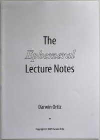 The Ephemeral Lecture Notes