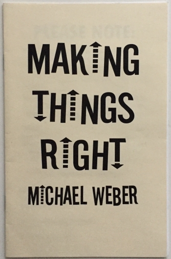 Making Things Right (Michael Weber)